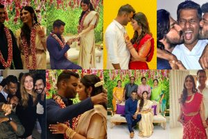 Vishal and Anisha Alla engagement and after party scenes