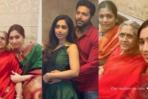 Jayam Ravi's wife and Mohan Raja's wife with their mom-in-law