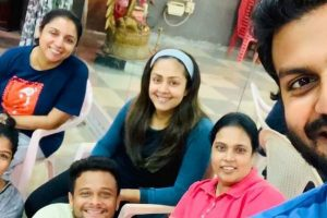 Jyothika and Revathy snapped on the sets of their next