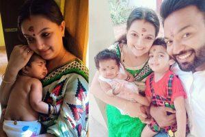Saranya Mohan With Family