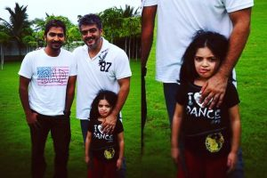 Vaibhav with Thala Ajith and Anoushka
