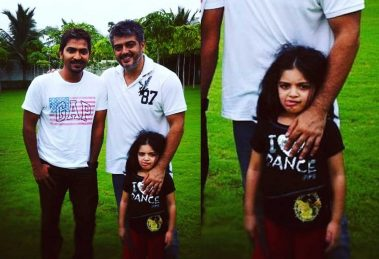 Vaibhav with Thala Ajith and Anoushka