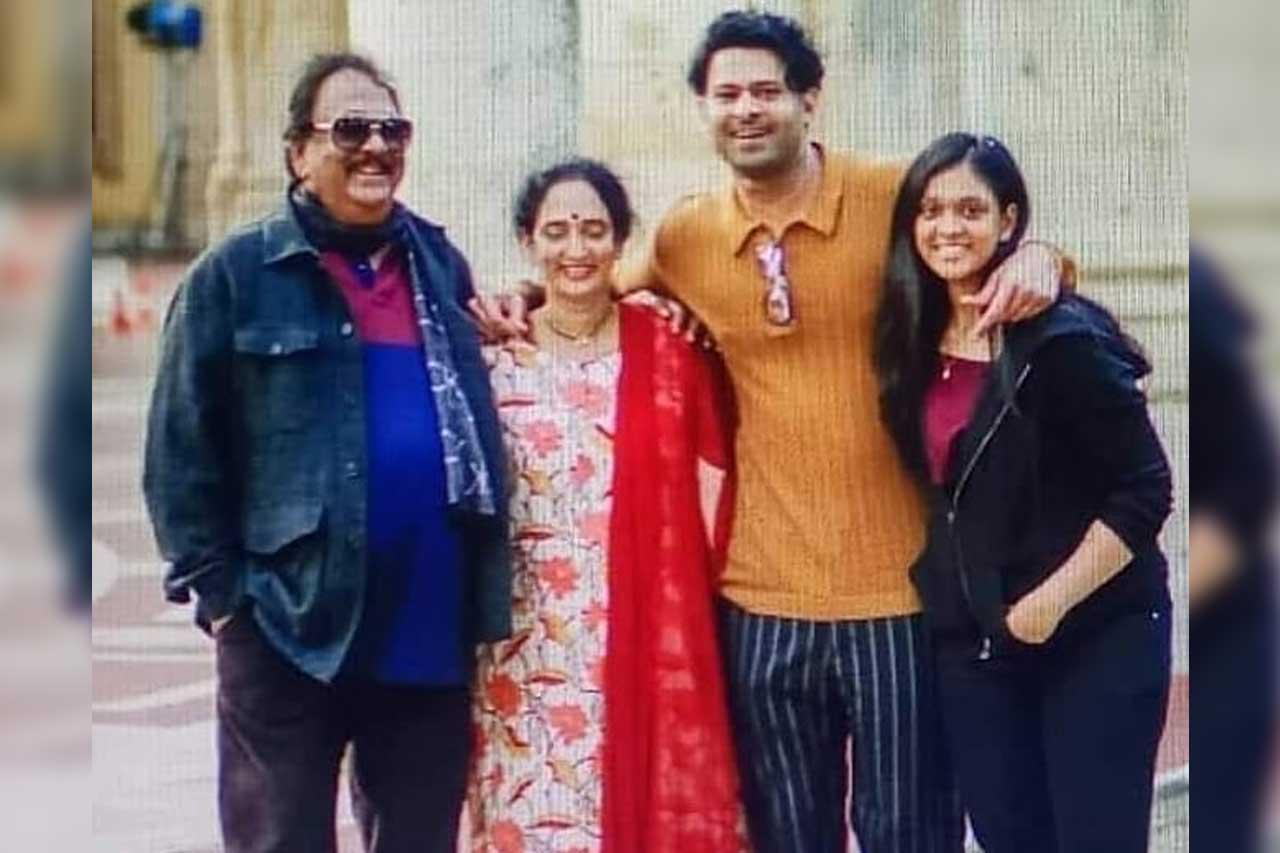 Prabhas with family