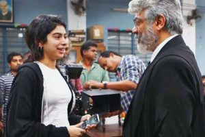 Thala Ajith with Khushi Kapoor- Sridevi's younger daughter`