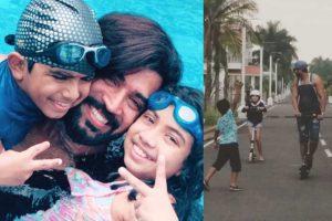 Arun Vijay with Family