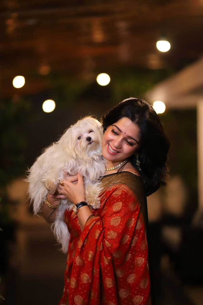 Charmee Kaur with her pet