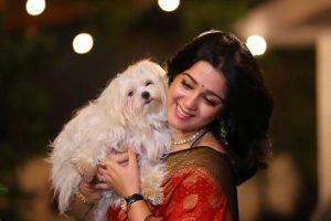 Charmee Kaur with her pet