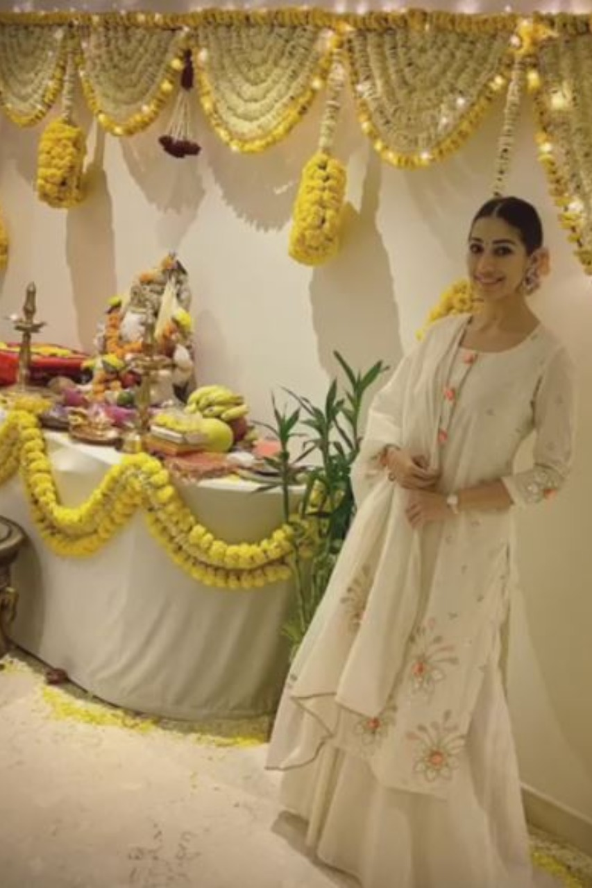 Actress Raai Laxmi - Vinayagar Chathurthi celebration