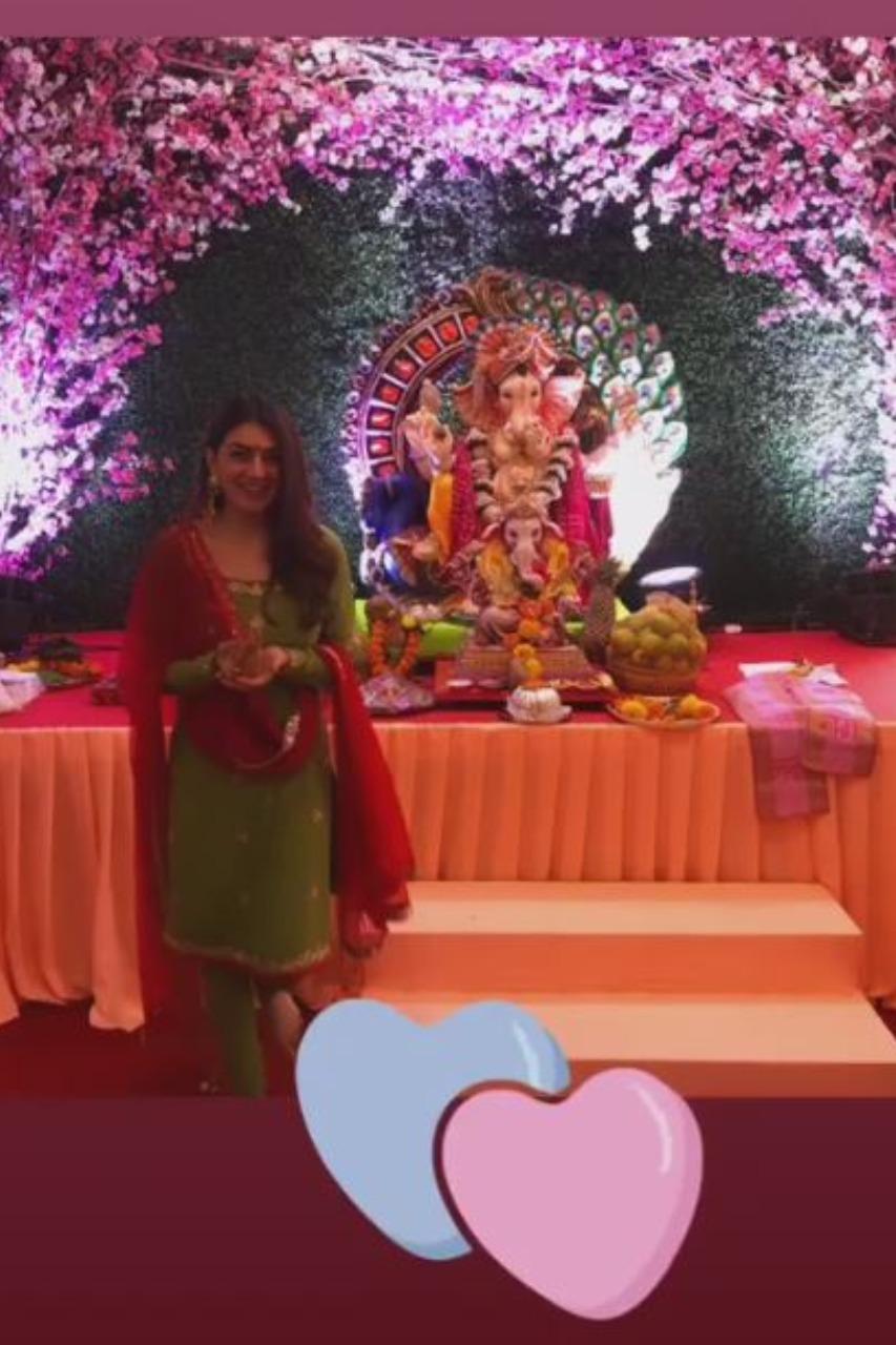 Actress Hansika Motwani - Vinayagar Chathurthi celebration