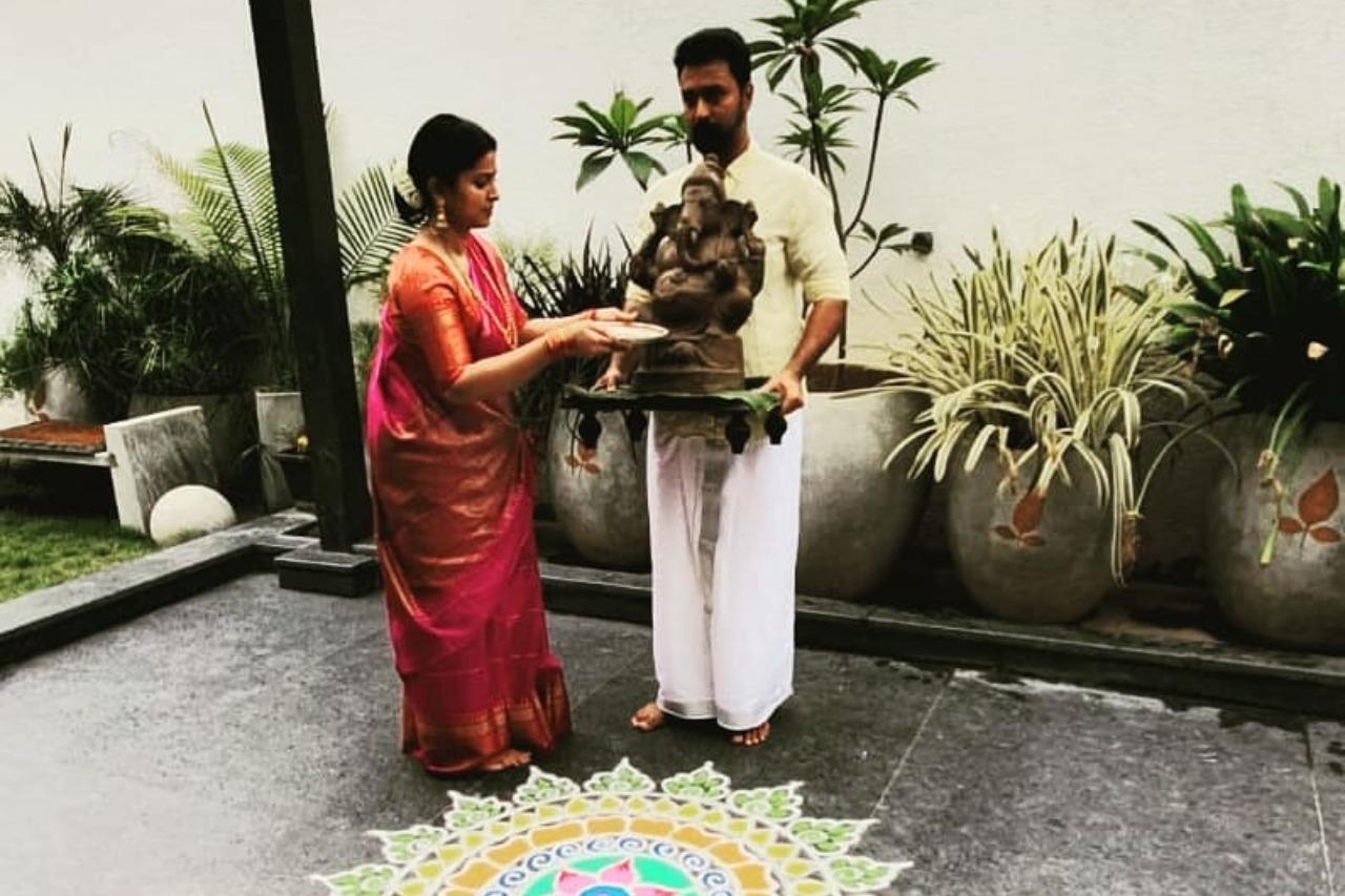 Actress Sneha - Vinayagar Chathurthi celebration