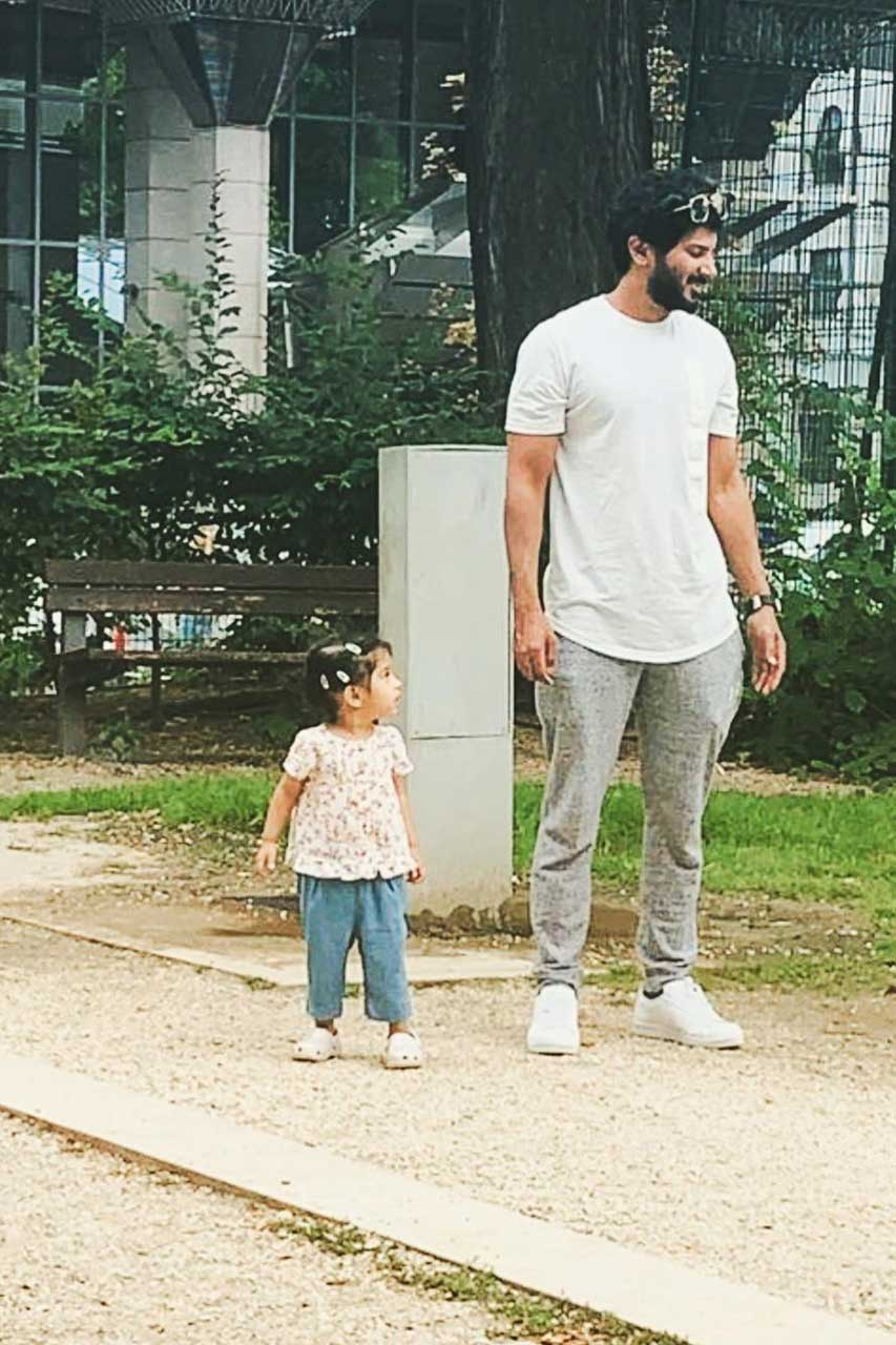 Dulquer Salmaan and daughter