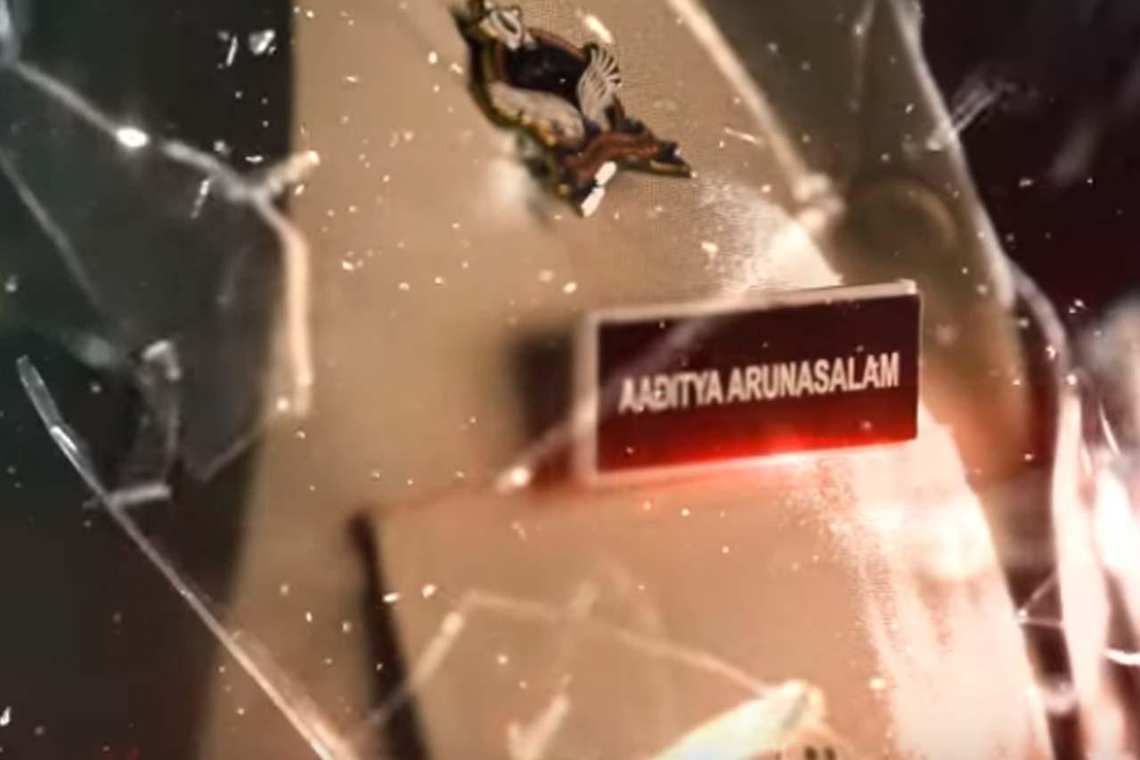 ஆதித்யா அருணாச்சலமாக தர்பார் திரைப்படத்தில் ரஜினி