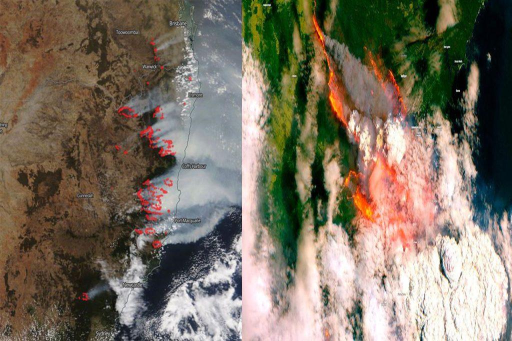 Satellite View - Bush Fire